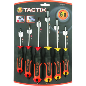 TACTIX - SCREWDRIVER 6PC SET SLOT & PH