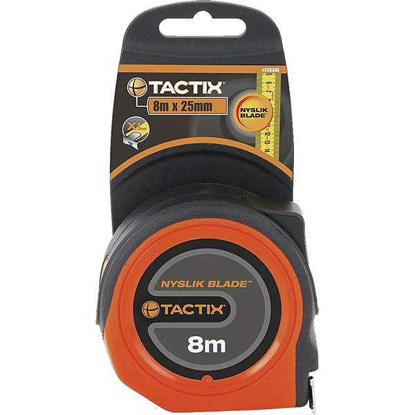 TACTIX - TAPE MEASURE 8M X 25MM