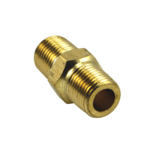 1/8IN BSP BRASS HEX NIPPLE - 2PK (BP)