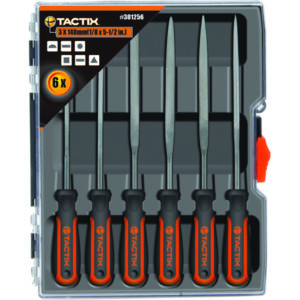 TACTIX - 140MM NEEDLE FILE SET 6PC