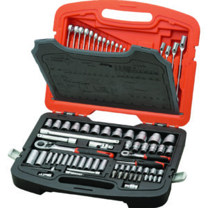 TACTIX - SOCKET SET 113PC 1/4IN & 1/2IN DR. METRIC