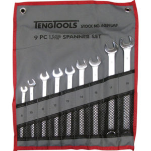 TENG 9PC LMP COMB SPANNER SET 8-19MM W/WALLET