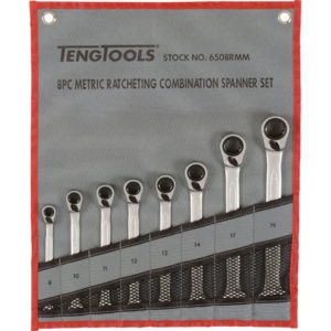 TENG 8PC REV RATCHET MM SPANNER SET 8-19MM