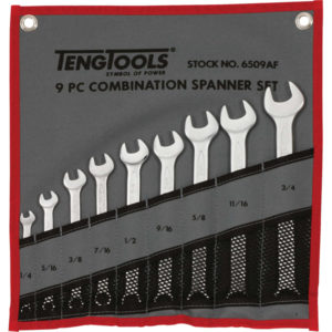 9PC ROE COMBINATION SPANNER (1/4 - 3/4IN)
