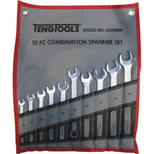 10PC ROE COMBINATION SPANNER SET (8-19MM)