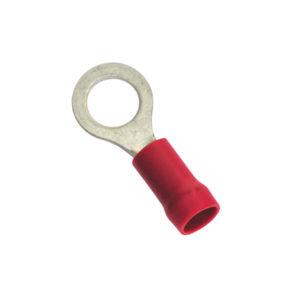 1/4IN / 6.3MM RED RING TERMINAL - 10PK