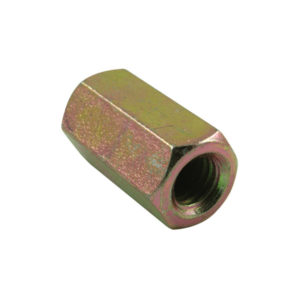 M6 X 25MM X 1.00 HEX COUPLER NUT - 10PK