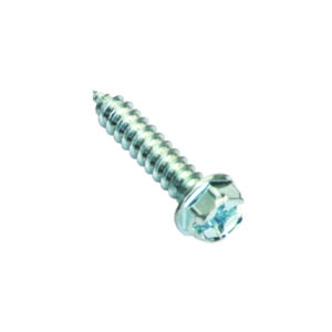 6G X 1IN S/TAPPING SCREW HE X HEAD PHILLIPS- 100PK