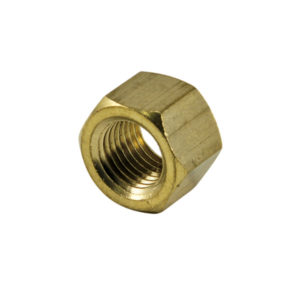 1/4IN UNC BRASS MANIFOLD NUT - 4PK