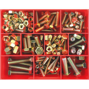 139PC METRIC SET SCREW & NUT ASSORTMENT GR8.8