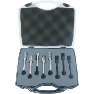 Unikut 5Pc Carbide Burr Set-1/2in Headx1/4in DC/AC