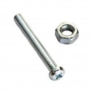 316/A4 MACHINE SET SCREW & NUT - CSK 6 X 50 (A)