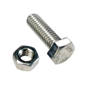 M10 X 40MM X 1.25 SET SCREWS & NUTS GR. 8.8  -25PK