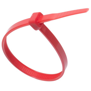 ISL 200 X 4.8MM NYLON CABLE TIE - RED - 100PK