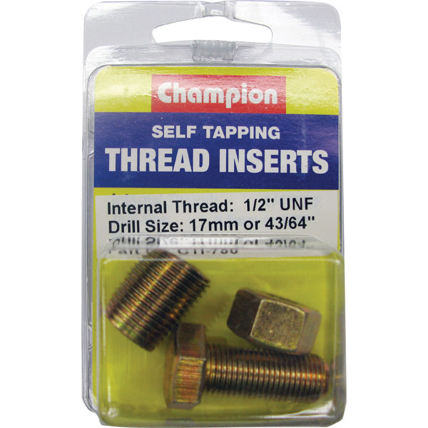 S/TAPP. THREAD INSERT - 1/2IN UNF (1PK)