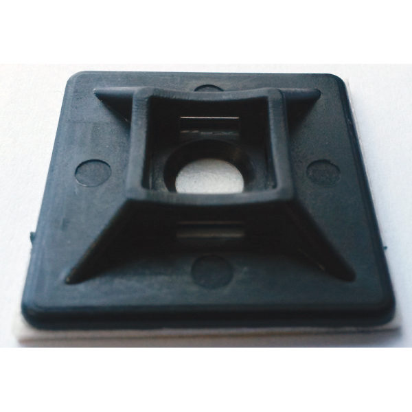ISL 28x28mm Cable Tie Mounting Base - Black - 100pk