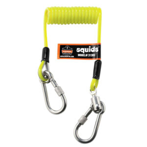 ERGODYNE COILED CABLE DUAL S/S CARABINEER 0.9KG