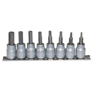 TENG 9PC 3/8IN DR. AF HEX BIT SKT SET 3/32-3/8IN