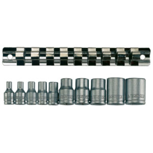 TENG 10PC 1/4IN & 3/8IN DR. TX-E SOCKET SET E4-E18