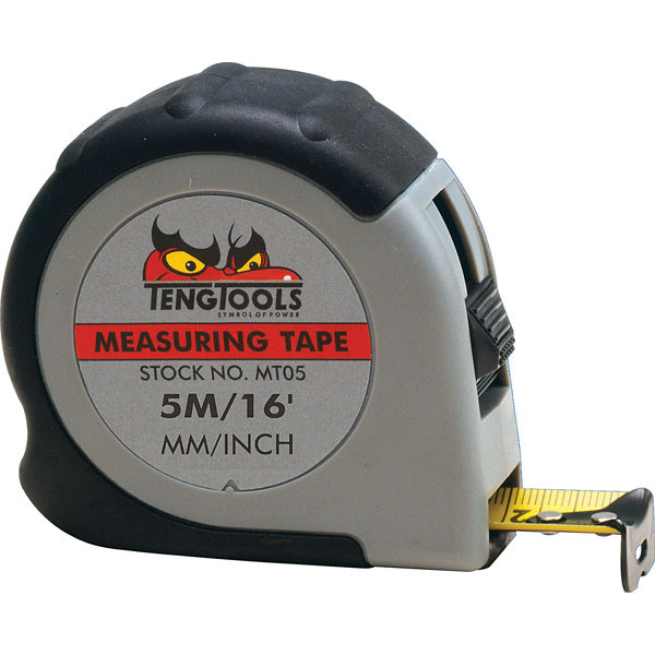 TENG 5M/16FT X 19MM MEASURING TAPE MM/IN