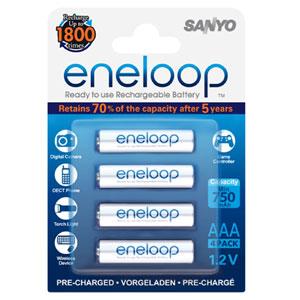 ENELOOP 750mAh 1.2V RECHARGABLE AAA BATTERY (4PK)