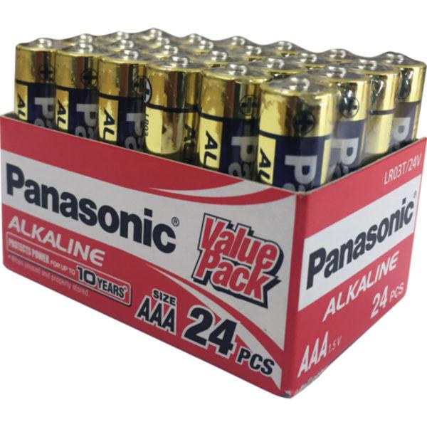 PANASONIC AAA BATTERY ALKALINE (24PK)