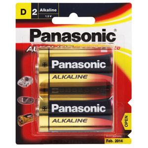 PANASONIC D BATTERY ALKALINE (2PK)
