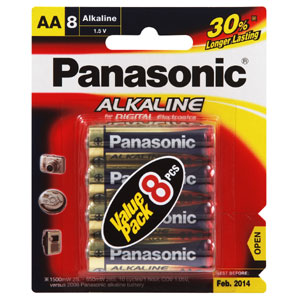 PANASONIC AA BATTERY ALKALINE (8PK)