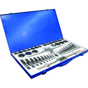45PC IMPERIAL TAP & DIE SET (UNC/UNF)