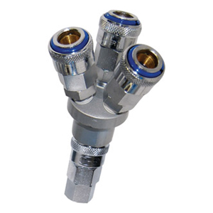 THB 3-WAY 'Y' INLINE MANIFOLD - 1/4IN BSP INLET