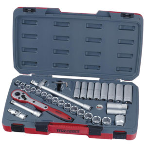 TENG 34PC 1/2IN DR. MM REG/DEEP SOCKET SET 6PNT