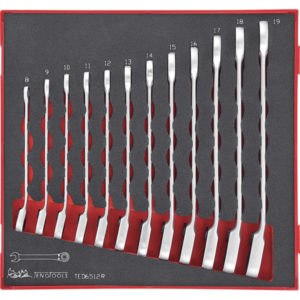 12PC REV. RATCHET ROE COMB. SPANNER SET 8-19MM