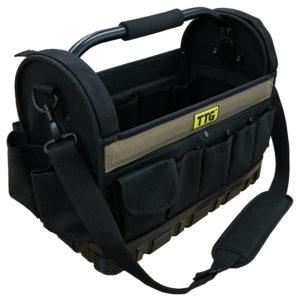 TTG 16in Open Top Tool Bag w/ Moulded Rubber Base