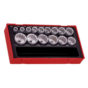15PC 1/2IN DR. 12-PNT AF SOCKET SET 3/8-1-1/4IN