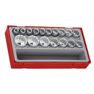17PC 1/2IN DR. 12-PNT SOCKET SET 10-32MM