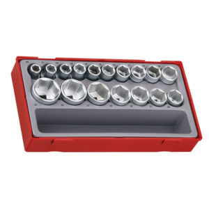 17PC 1/2IN DR. 6-PNT SOCKET SET 10-32MM