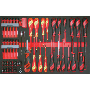 98PC MD POWER THRU & VDE SCREWDRIVER SET (EVA)