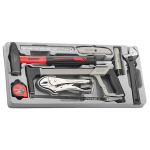 9PC GENERAL HAND TOOL TRAY
