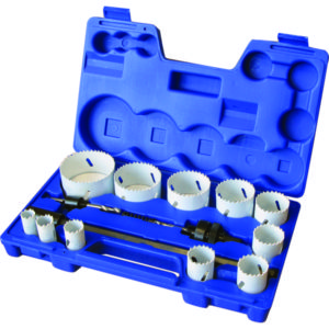 15PC BI-METAL HOLE SAW KIT 19-76MM (M3 HSS)