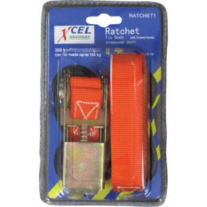 Xcel 4.5m Ratchet Tie Down 1Pc